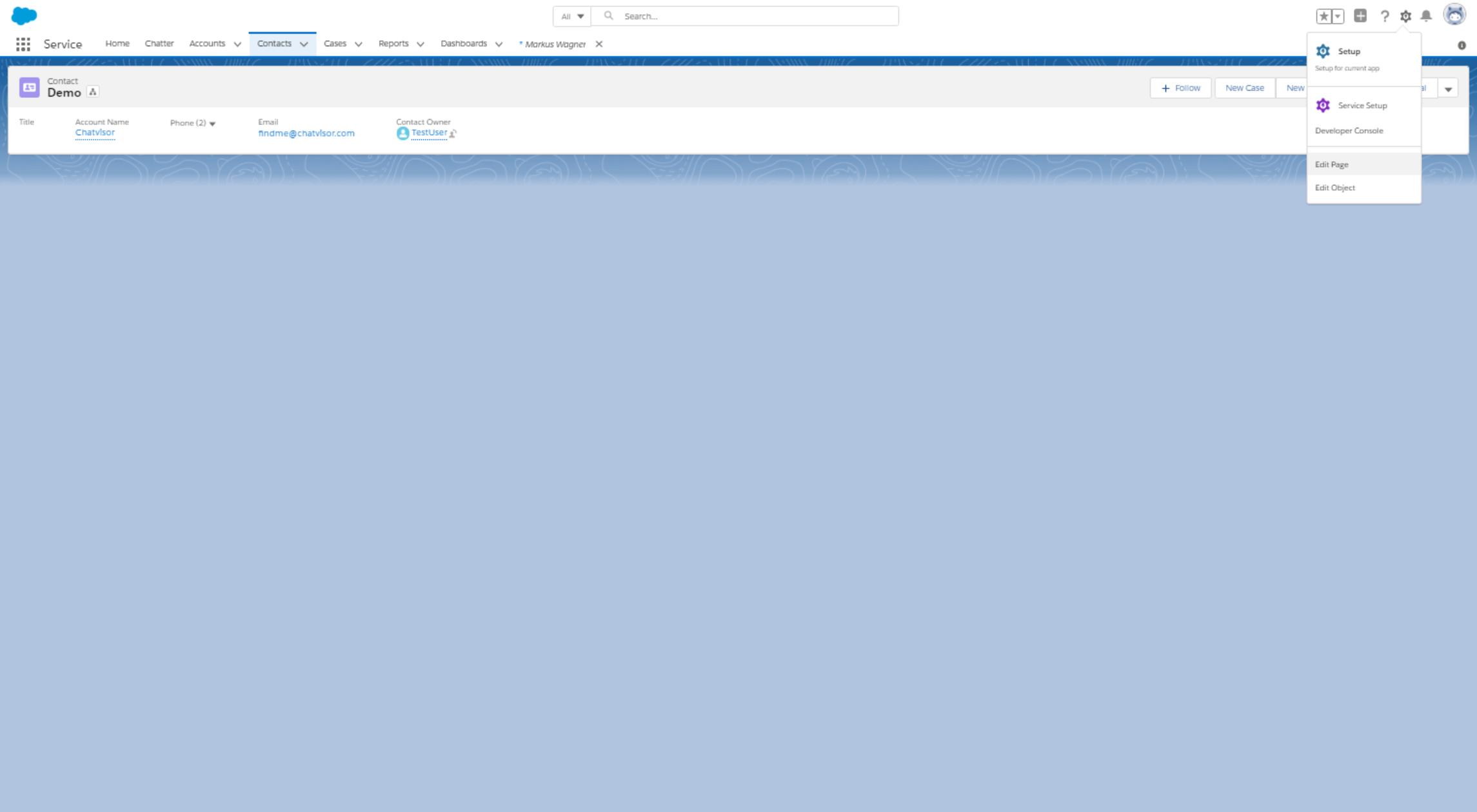 Edit a page in Salesforce